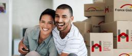 un couple qui déménage